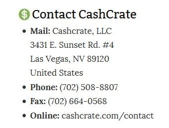 CC Contact Information