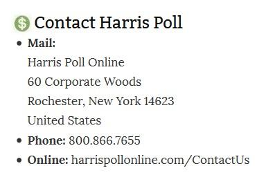 Contact Harris Poll