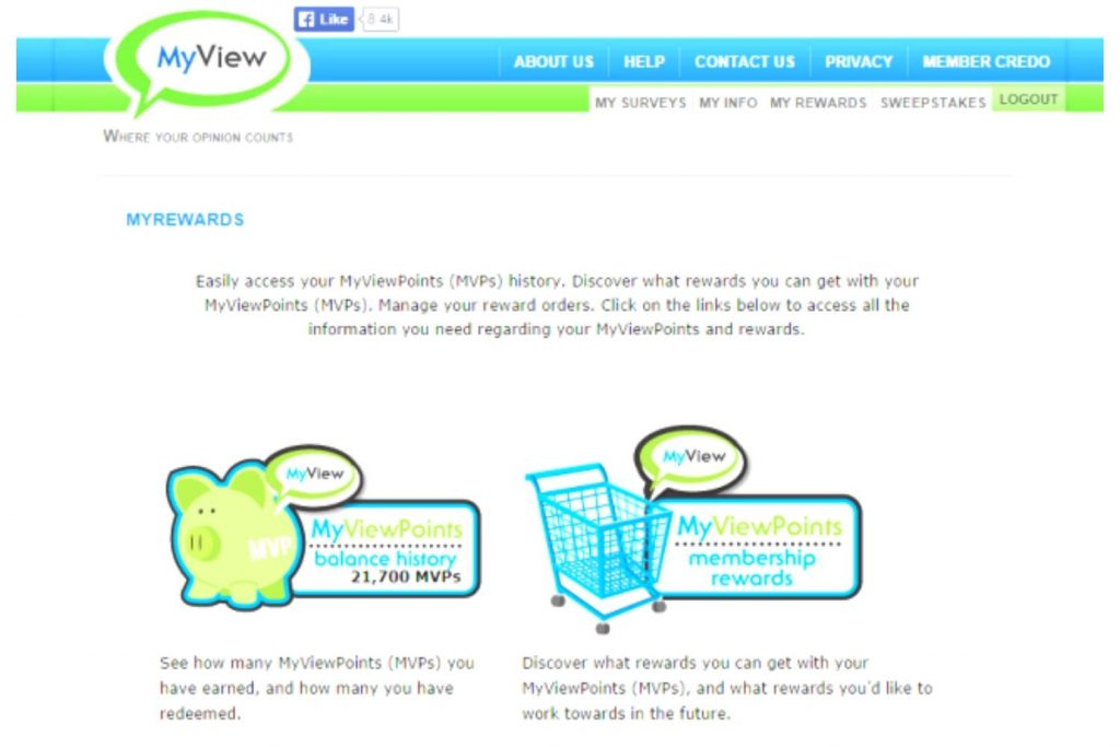 MyView Experience As A Member