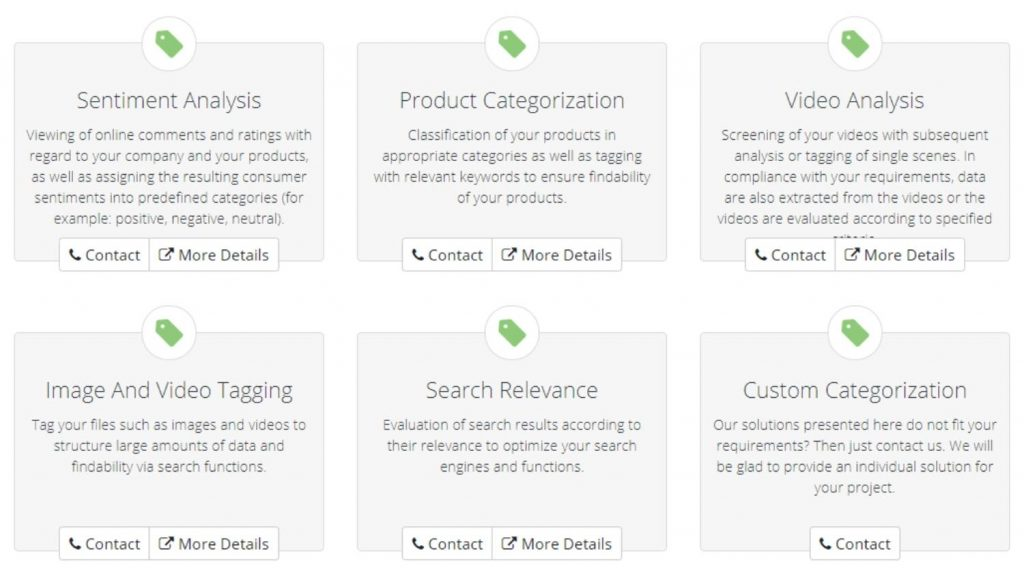 Clickworker Data Categorization