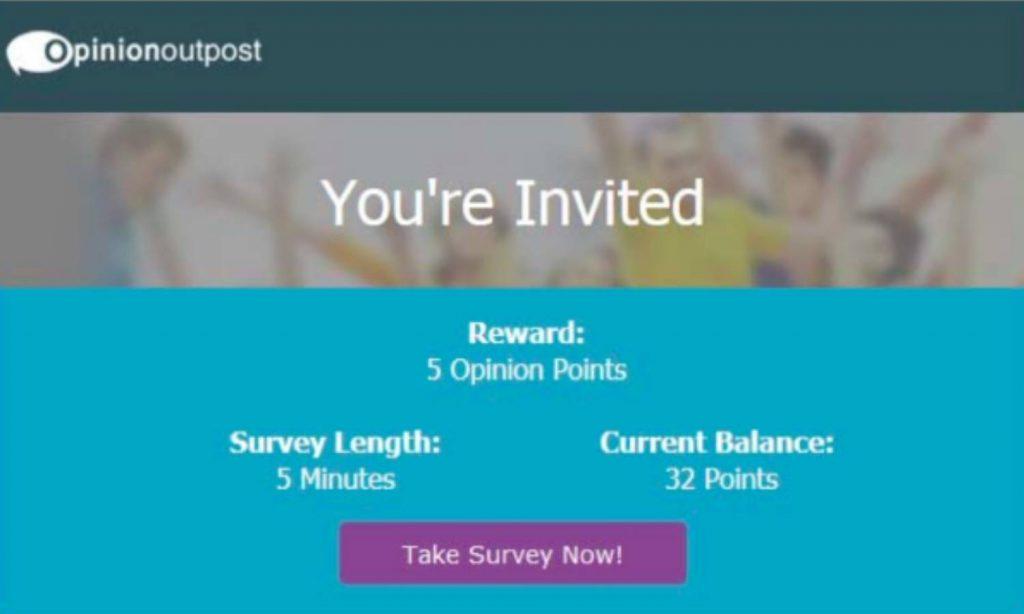 OpinionOutpost Survey