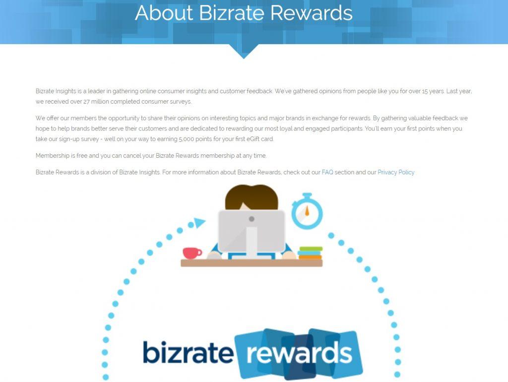 bizrates rewards about page