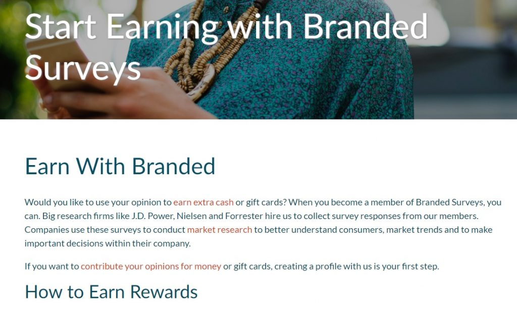 Branded Surveys Earnings