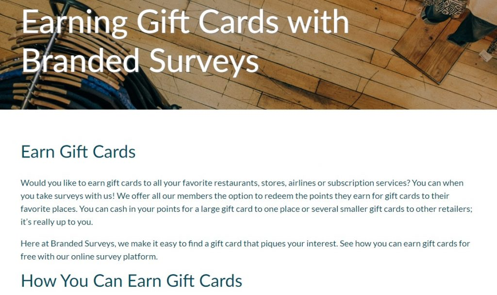 Branded Surveys Points Other Rewards