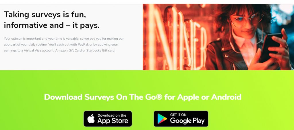 Surveys On The Go Payment